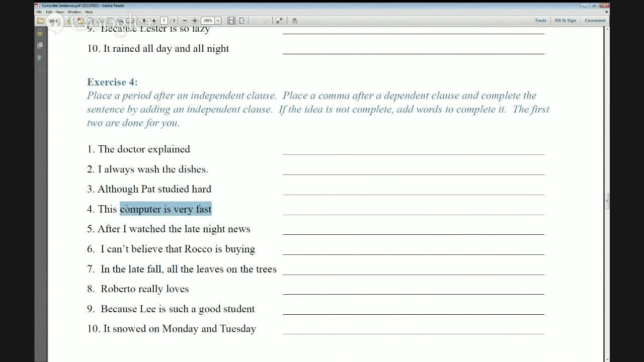 Grammar Practice Worksheets Complete Sentences YouTube – Grammar Practice Worksheets