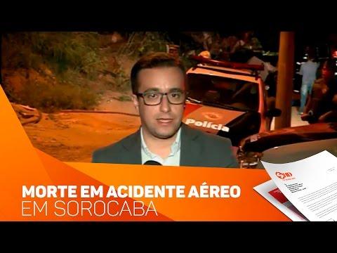 2 pessoas morreram na queda de avião em Sorocaba - TV SOROCABA/SBT