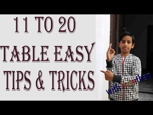 11 to 20 easy table learning tips and tricks by manthan - पहाडा टिप्स और ट्रिक्स