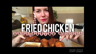 fried chicken extra crispy asmr relaxing eating sounds