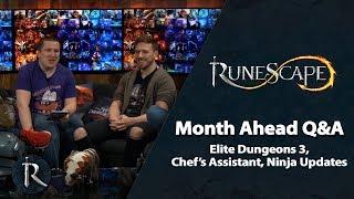 RuneScape Month Ahead Q&A (Feb 2019) -  Elite Dungeons 3, Chef's Assistant, Ninja updates