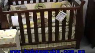 Sleigh Cot, Sleigh Change Table | Babyhood | Video Review By Http://www.bubsngrubs.com.au