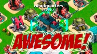 I LOVE THE SHIELD GENERATOR | Boom Beach | UPGRADING THE ARMORY TO LEVEL 21