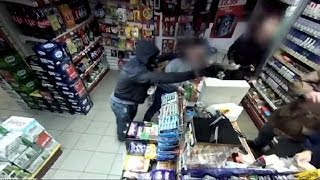 Police release footage of armed robbery in Ramsbottom, Greater Manchester