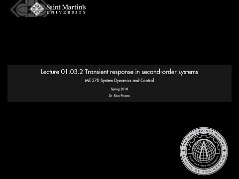 01.03.2 Transient response in second-order systems
