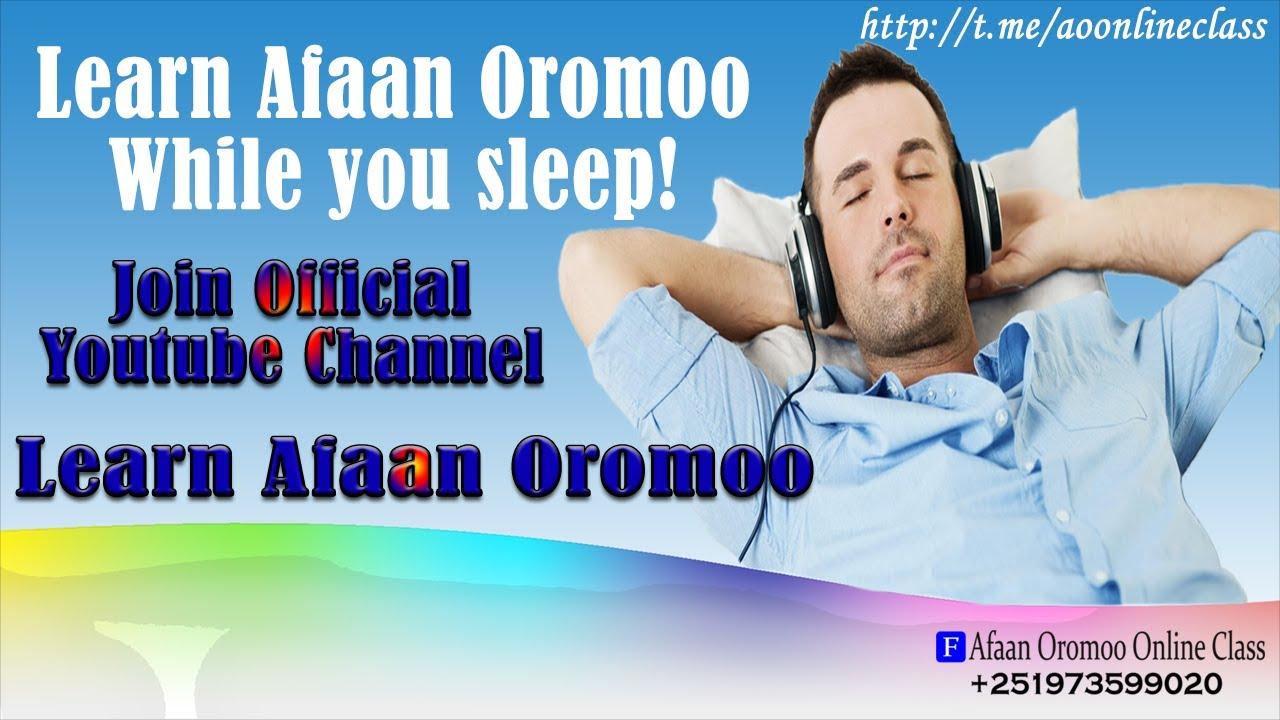 Download Learn afaan oromo while you sleep or walk
