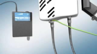 Broadband High Speed Satellite modem   installation movie