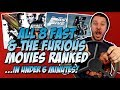 All 8 Fast and the Furious Movies Ranked ...in Under 6 Minutes!