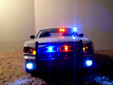 1 18 undercover dodge charger white slicktop w police. Black Bedroom Furniture Sets. Home Design Ideas