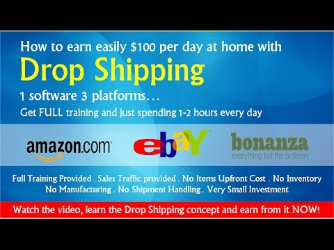 How to earn easily $100 per day at home with Drop Shipping?