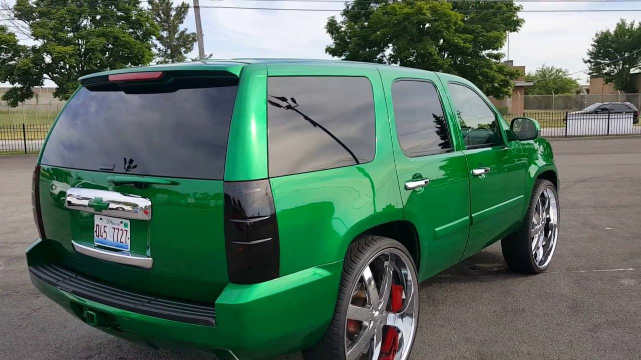 '08 GMC Tahoe on 30s Customized - YouTube