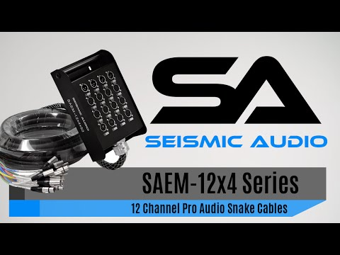 Seismic Audio SAEM-12x4 Series Snake Cables (Official)