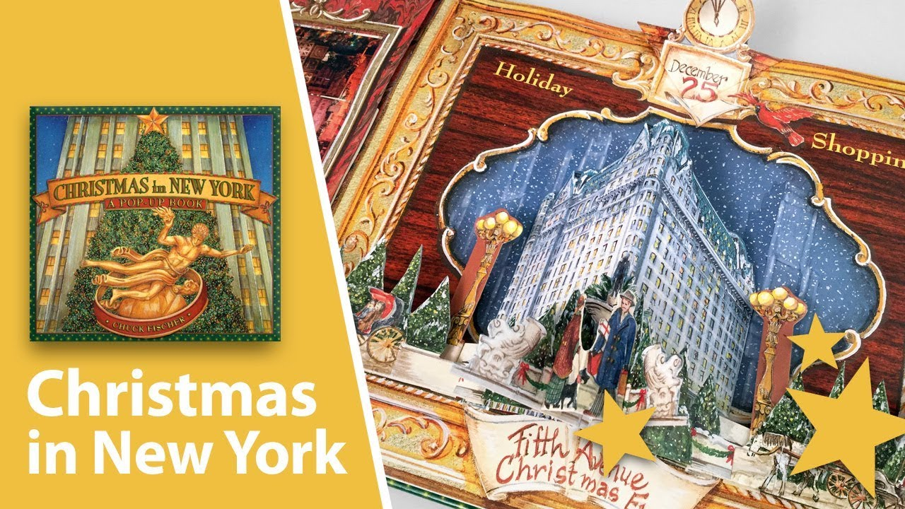 Pop Up Book Cover Christmas In New York A Pop Up Book By Chuck Fischer