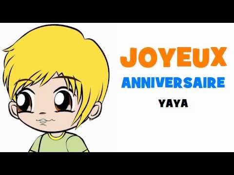Joyeux Anniversaire Yaya