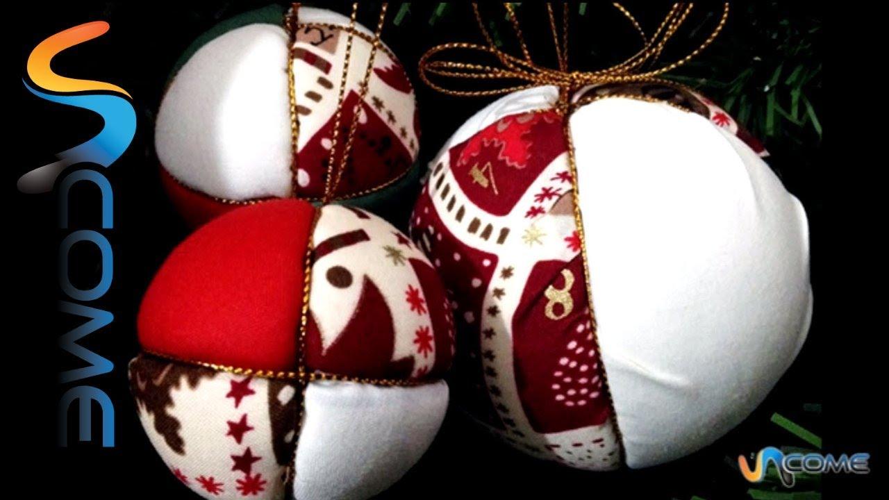 Ben noto Creare palline di stoffa per Natale - YouTube DW62