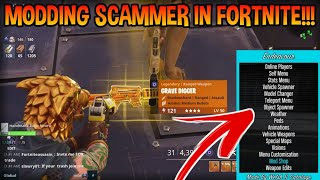 Mod Menu Scammer Scams Himself! (Scammer Gets Scammed) Fortnite Save The World