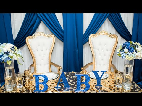 A Nautical Baby Shower with a Touch of Royalty & Glam