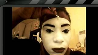 Mime makeup application