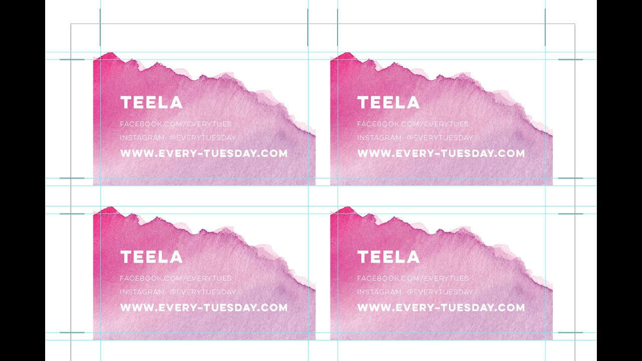 Bulk print diy business cards using illustrator youtube colourmoves