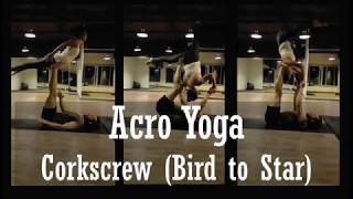 Yoga đôi | Tập Acro Yoga - chuỗi di chuyển Corkscrew (Bird to Star) | Yogi Travel VN