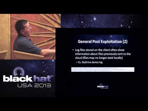 Black Hat 2013 - Post Exploitation Operations with Cloud Synchronization