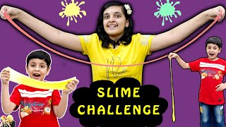 SLIME CHALLENGE | Funny Indoor Activity for kids | Aayu and Pihu Show