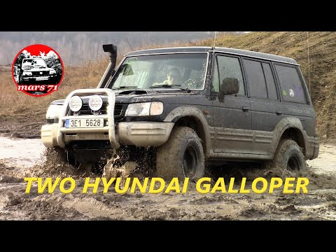 Two Hyundai Galloper