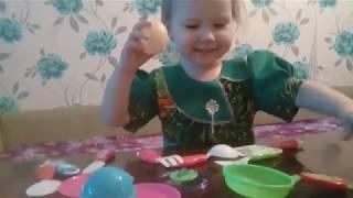 распаковка детской посуды / обзор игрушек