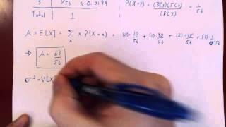 Discrete Random Variables - Example