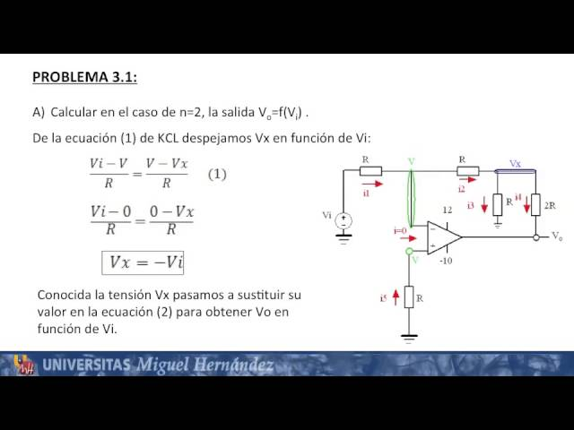 Umh1219 2013 14 Lec007 Problemas Con Amplificadores Operacionales I Youtube