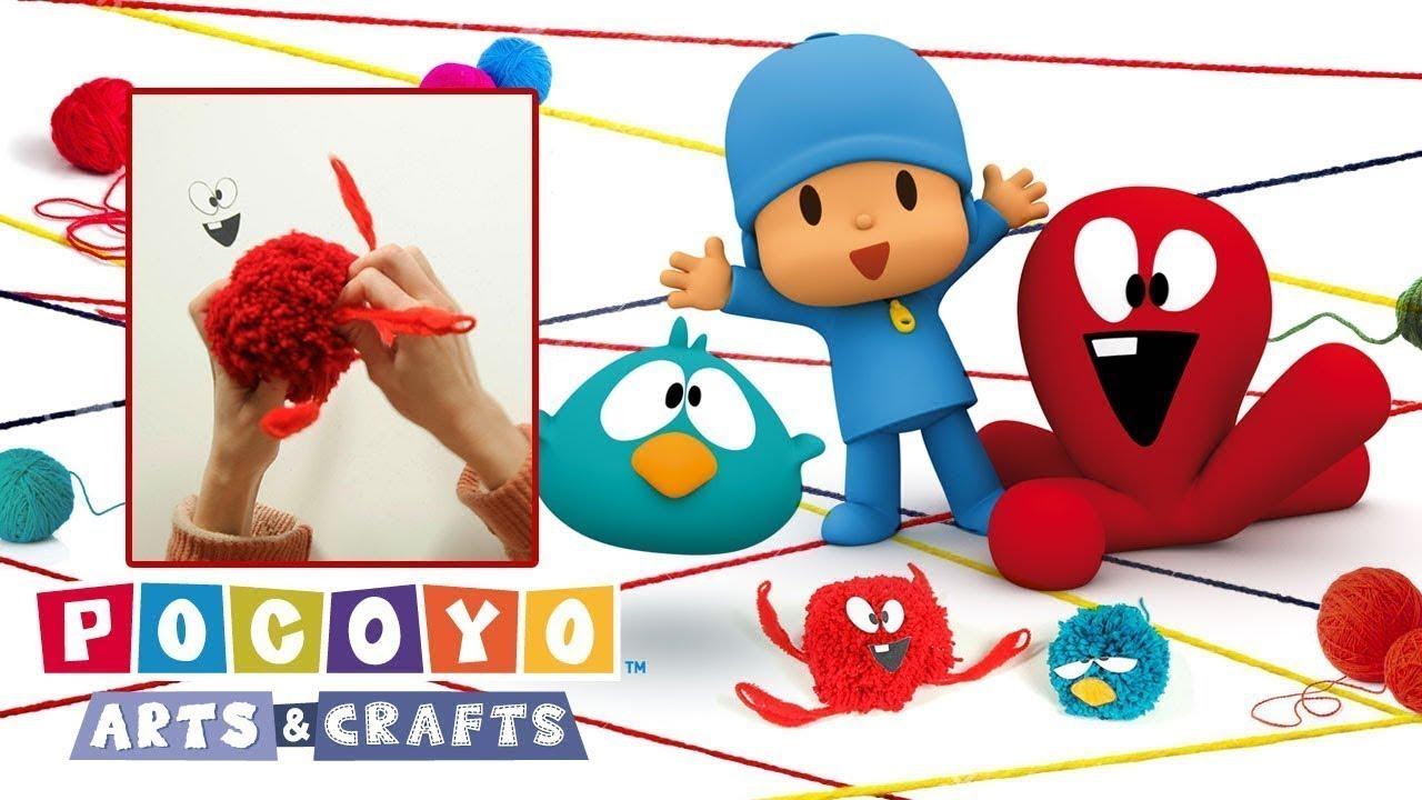 Pocoyo Arts & Crafts: Pompones de Pulpo y Pajaroto