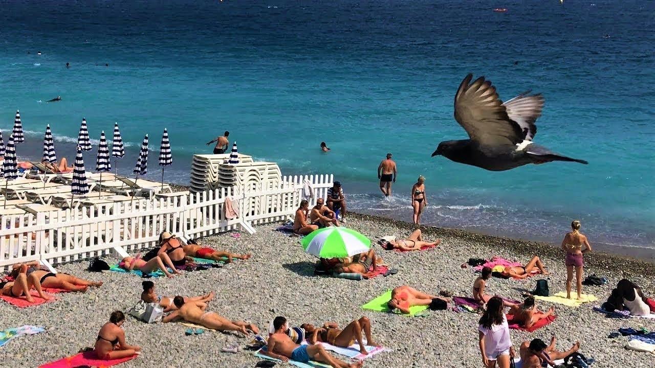 Nice Beach Promenade Des Anglais France 2018