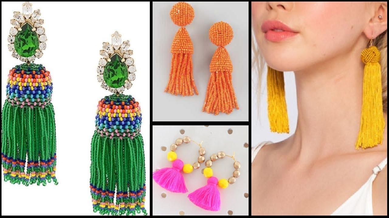 Latest Jewellery Trend Tassels earrings design | Tassels earring ...