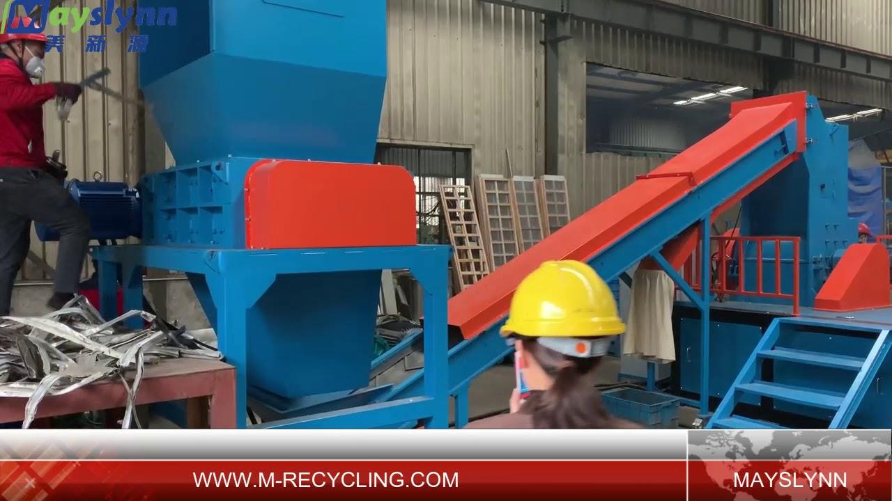 Scrap aluminum crushing line(whatsapp/wechat:0086-13606650643)