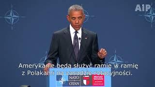 Szczyt NATO w Warszawie. Barack Obama zapowiada rozmieszczenie wojsk USA w Polsce