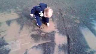 Jman and his first mud puddle