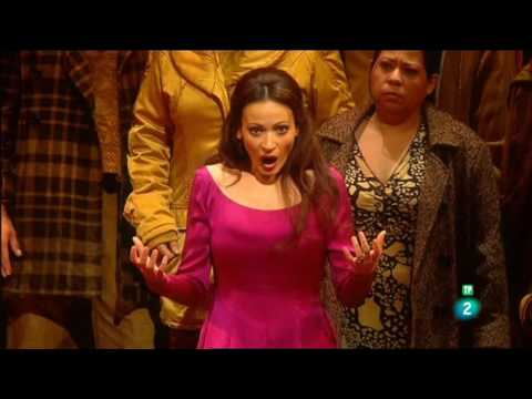 La soprano grancanaria Davinia Rodríguez & Plácido Domingo en el Liceu