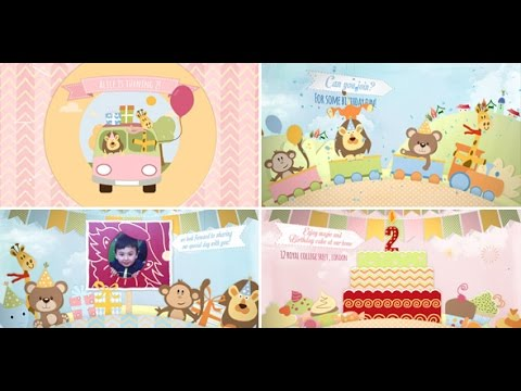 Video Birthday Invitation And Opener After Effects Royalty Free - Birthday invitation video