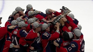 Watch: Host Windsor Spitfires hoist Mastercard Memorial Cup