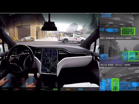Tesla Model X | Full Self Driving incl. Tesla Vision Feed