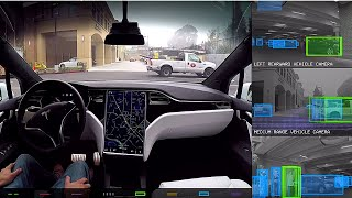 Tesla Model X - Self driving incl. Tesla Vision feed