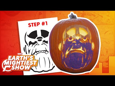 How to make a Thanos pumpkin for Halloween! | Earth's Mightiest Show Bonus