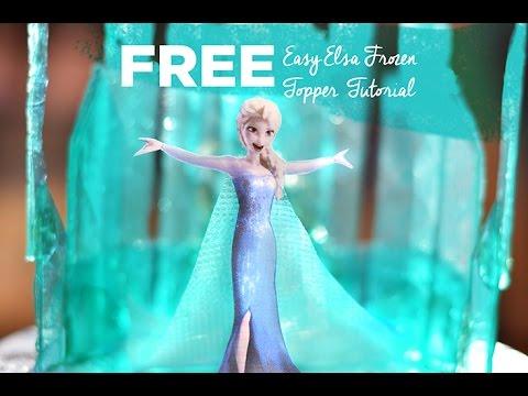 Free Easy Elsa Frozen Cake Topper Tutorial YouTube