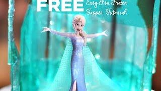 Free Easy Elsa Frozen Cake Topper Tutorial