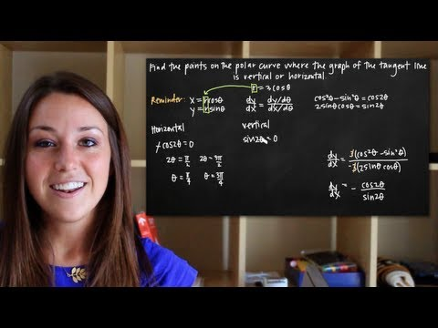 Vertical and horizontal tangent lines to the polar curve (KristaKingMath)