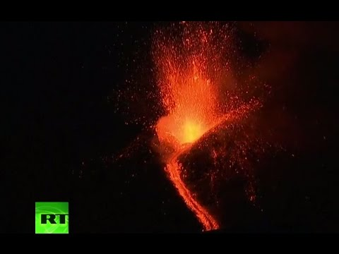 Mt Etna eruption LIVE: Lava spewing from Europe's highest & most active volcano