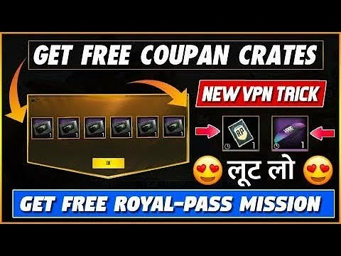 Pubg latest vpn trick || free premium coupon || mission card || pubg mobile