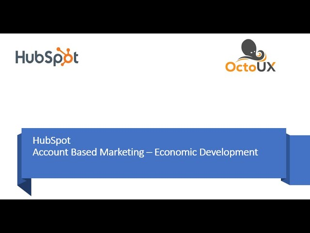 Account Based Marketing - new tools in HubSpot for you