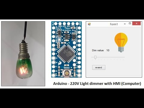 Arduino 220V light dimmer