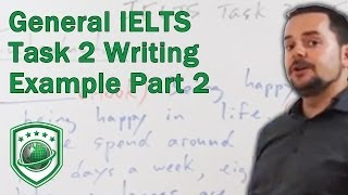 Writing Task 2 for General IELTS